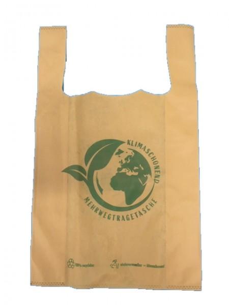 """PP-Vlies Hemdchentragetaschen Farbe: beige """"Umwelt"""""""