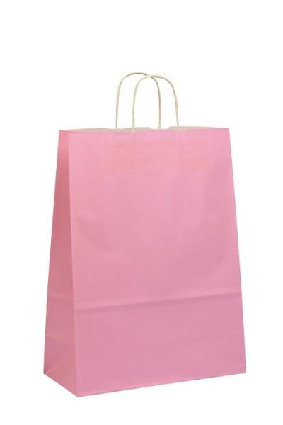 Papiertragetaschen Toptwist Vollfläche pink