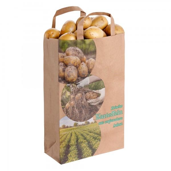 """Kartoffel - Tragetaschen 2,5 kg Motiv: """"aus regionalem Anbau"""""""