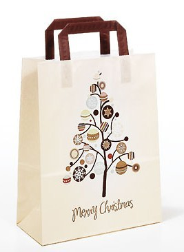 """Papiertragetaschen Topcraft """"Merry Christmas"""""""