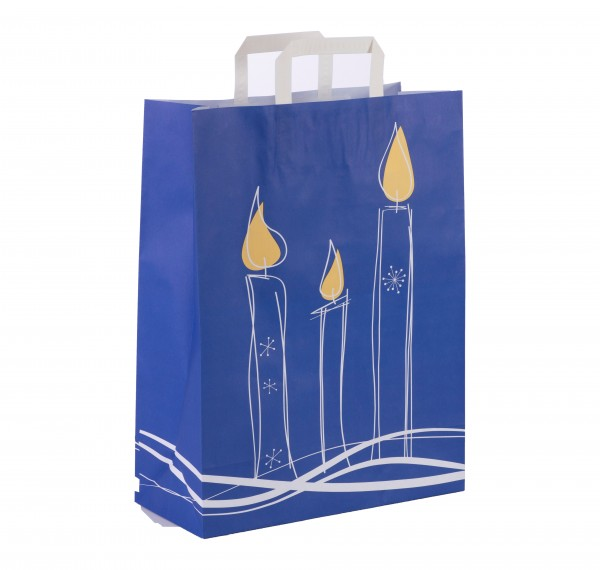 "Papiertragetaschen Topcraft ""Kerze blau"""